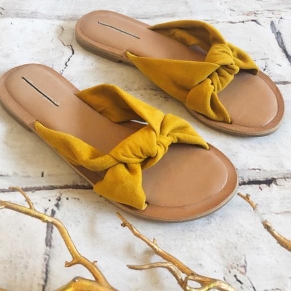 Jeffrey Campbell mustard yellow sandals